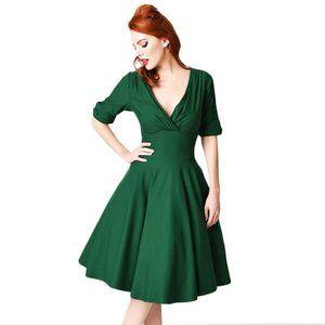 Unique Vintage Delores Dress Green